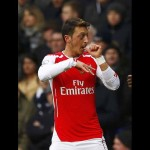 Mesut Ozil of Arsenal celebrates scoring against Tottenham Hotspur during their English Premier League soccer match at White Hart Lane, London, February 7, 2015.      REUTERS/Eddie Keogh (BRITAIN  - Tags: SPORT SOCCER) EDITORIAL USE ONLY. NO USE WITH UNAUTHORIZED AUDIO, VIDEO, DATA, FIXTURE LISTS, CLUB/LEAGUE LOGOS OR 'LIVE' SERVICES. ONLINE IN-MATCH USE LIMITED TO 45 IMAGES, NO VIDEO EMULATION. NO USE IN BETTING, GAMES OR SINGLE CLUB/LEAGUE/PLAYER PUBLICATIONS.